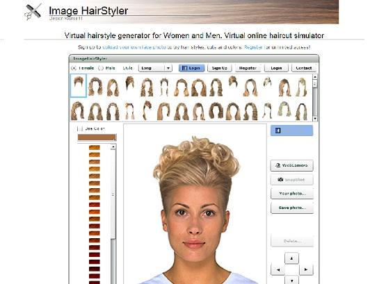 Simulatore taglio di capelli app uomo