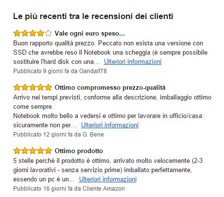 recensire un prodotto Amazon