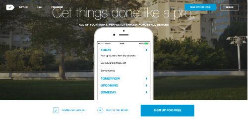anydo - app per gestire appuntamenti