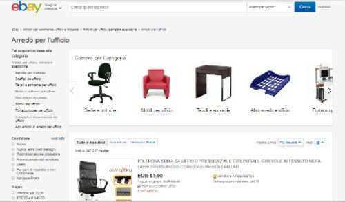 arredo ufficio su ebay