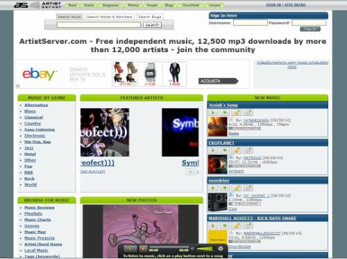 artistserver mp3 download legale