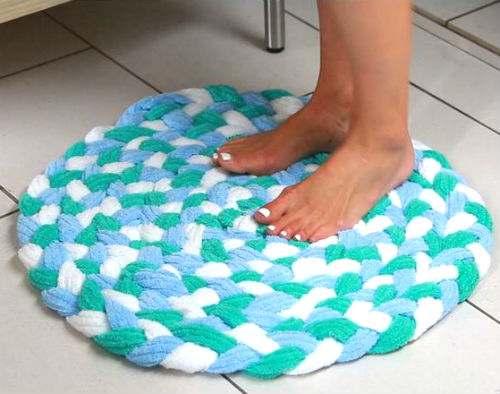 asciugamano rovinato tappeto