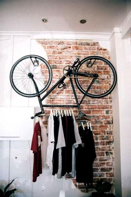 bicicletta appendi abiti