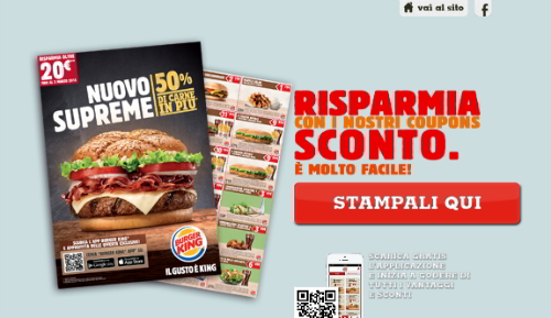 sconto da Burger King