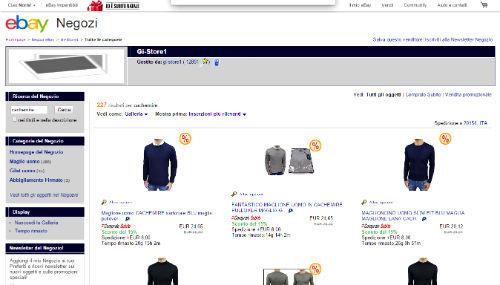 acquisto cachemire eBay