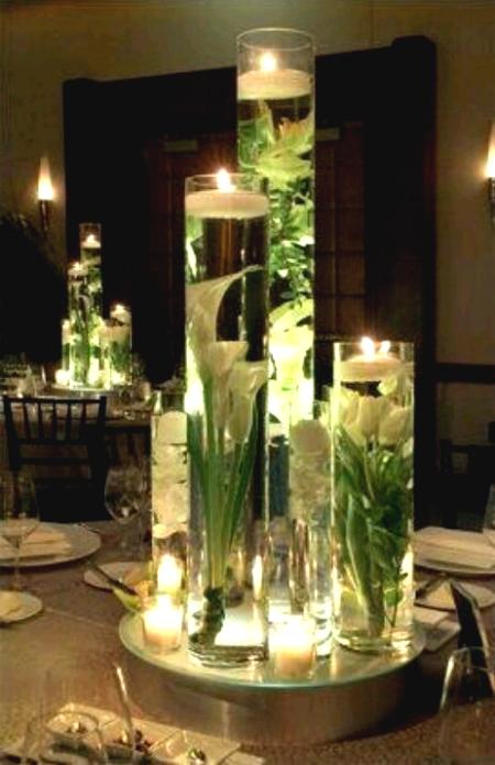 candele centro tavola nozze