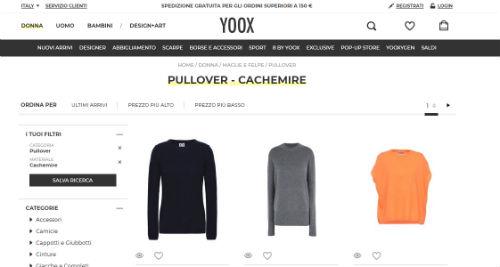 cashemire yoox