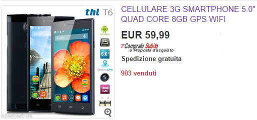 cellulare android cinese italia