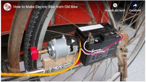 costruire una bici elettrica