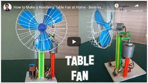 costruire ventilatore da tavolo
