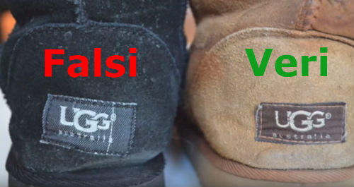 etichetta stivali ugg veri falsi