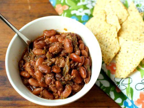 fagioli e pancetta - cucinare con gli avanzi