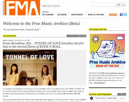 free music archive musica senza pagare