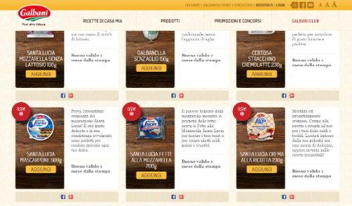 coupon prodotti galbani