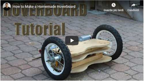 hoverboard fai da te video