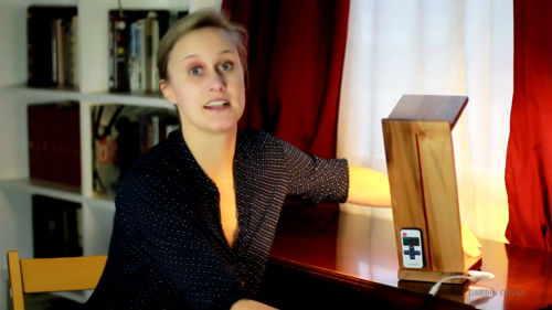 lampada legno a mano