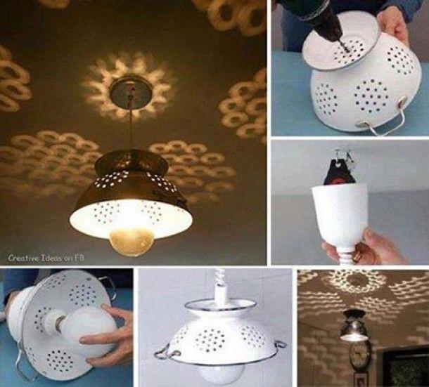 lampada con scolapasta