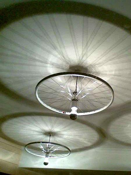 lampadario raggi bici