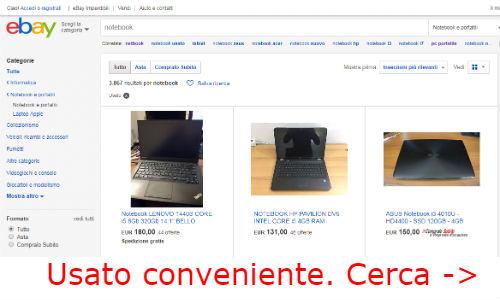 notebook ebay usati