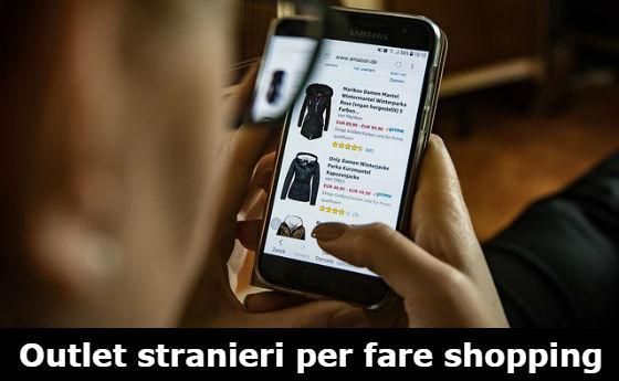 fare shopping su siti esteri