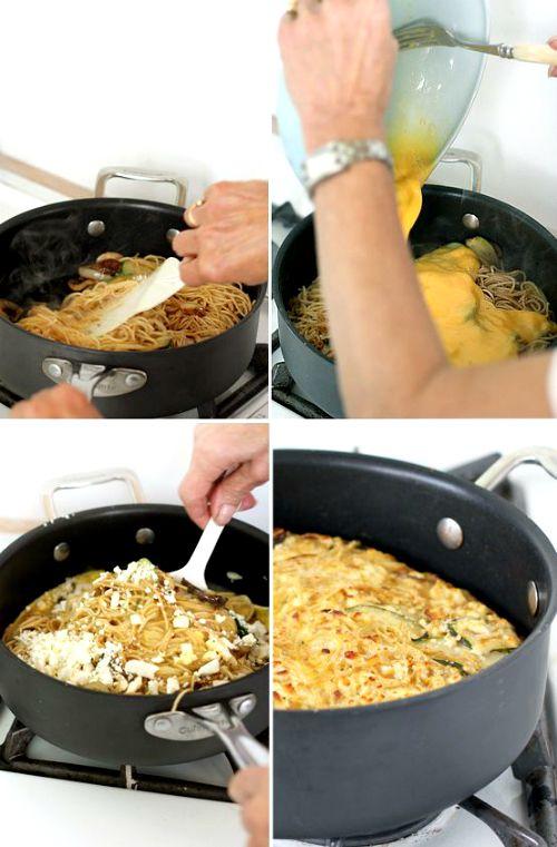 avanzi pasta zucchine ricotta
