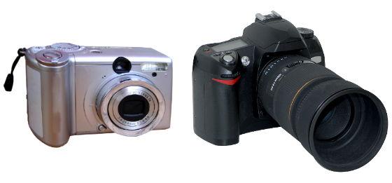 vendita fotocamere compatte e reflex