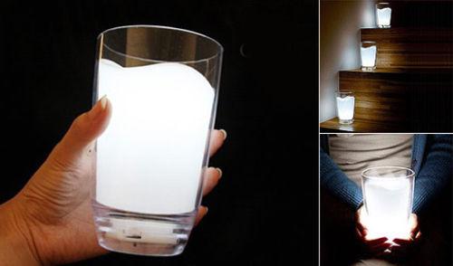 lampada a forma di bicchiere