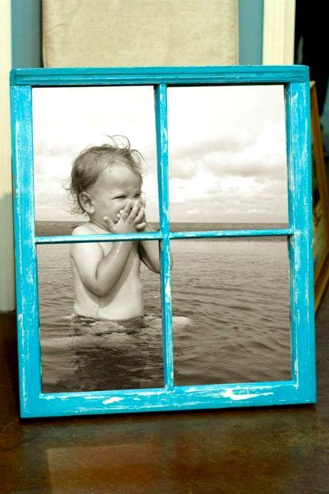 riciclare finestra portafoto