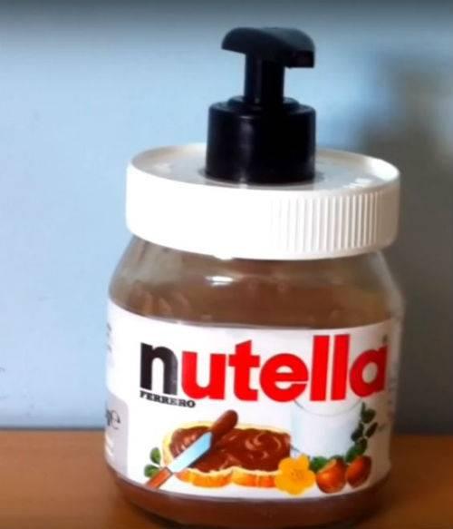 riciclo Nutella porta sapone