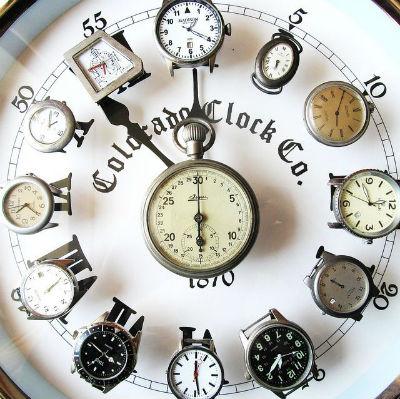 composizione creativa orologio di casa