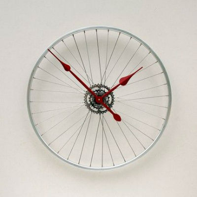 riciclo orologi esempio ruota bici