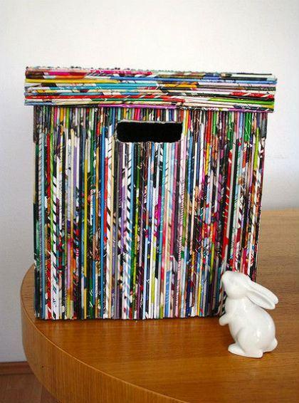 Riutilizzare vecchi giornali e riviste usate con fantasia for Giornali arredamento casa