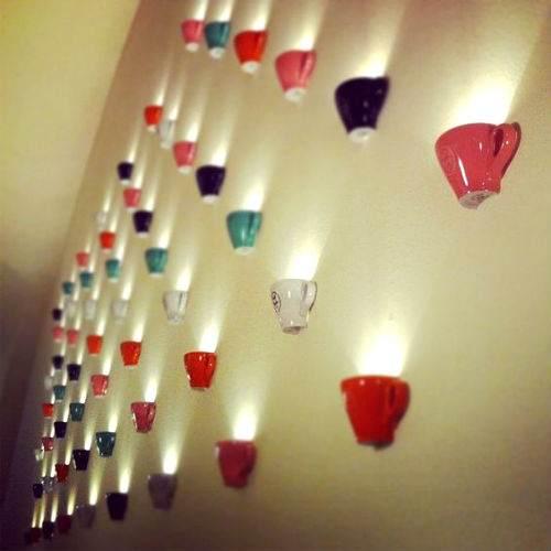 riciclo tazze decoro casa