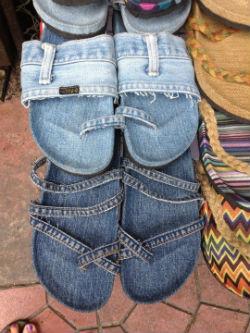 riciclo vecchi jeans