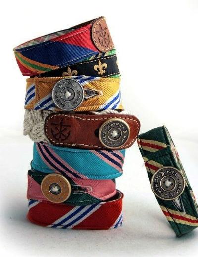 vecchie cravatte diventano braccialetti