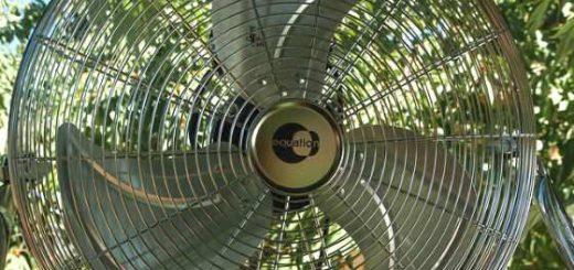 riciclo vecchio ventilatore tavolo