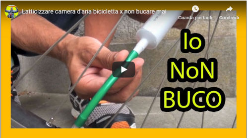 riparare ruota bici bucata