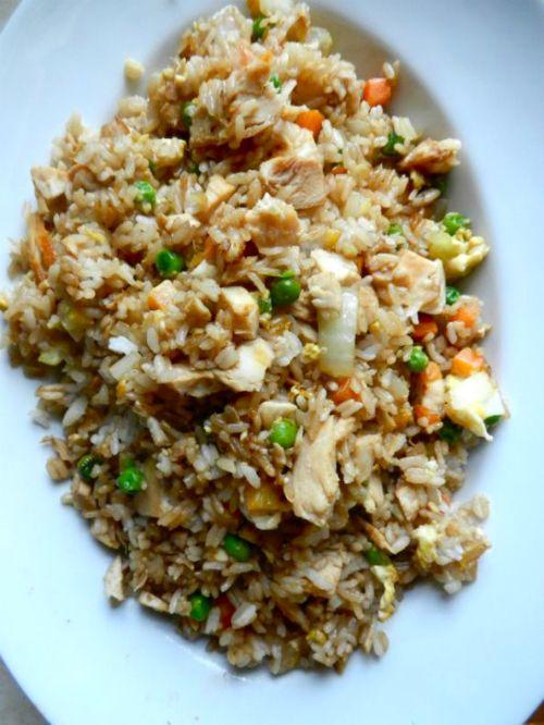 riso fritto con pollo o maiale