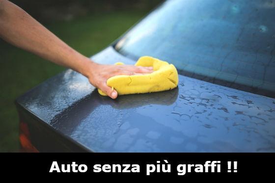rimuovere i graffi dalla carrozzeria auto