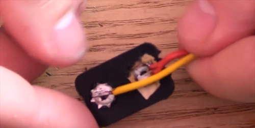 saldare fili caricabatteria usb portatile