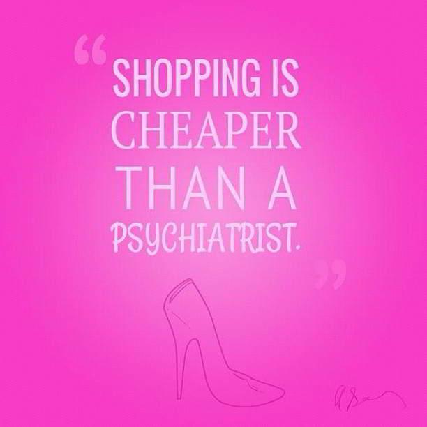 fare shopping costa meno che andare dallo psichiatra