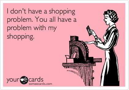 le scuse - shopping compulsivo
