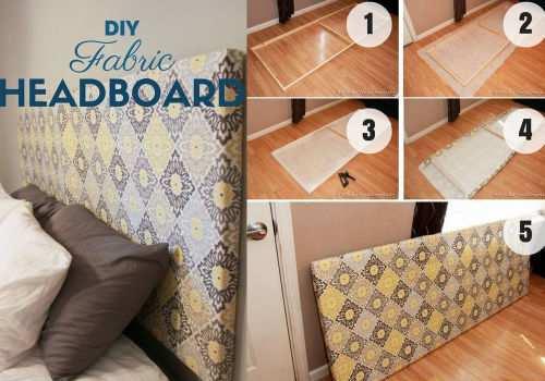 12 idee per creare in casa una testiera del letto fai da te - Come fare una testata del letto imbottita ...