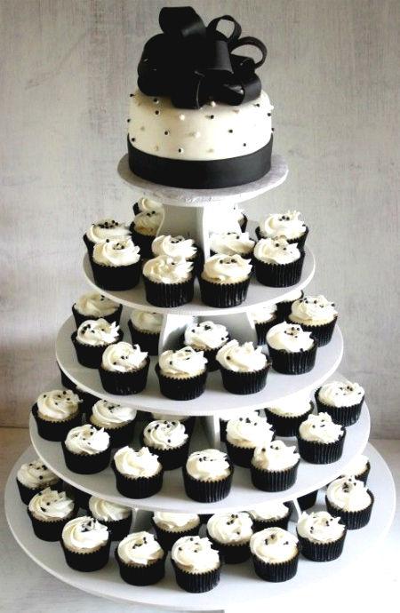 idea torta nuziale cup cake