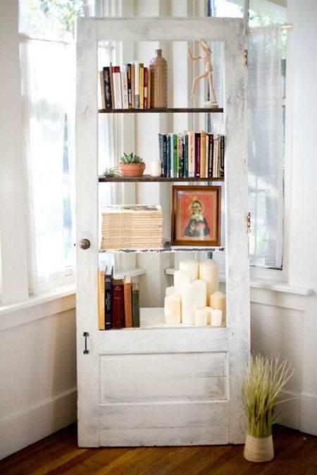 vecchia porta riciclo libreria
