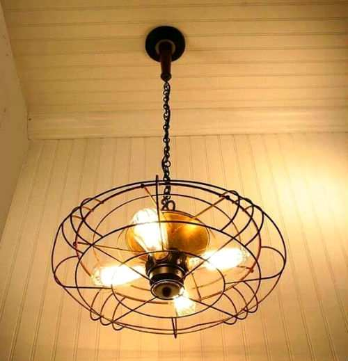 ventilatore riciclo lampadario